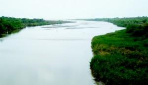 River entering sea