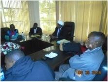 Addressing Mwakirunge visitors